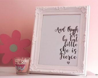 Fierce framed print / Baby Nursery print