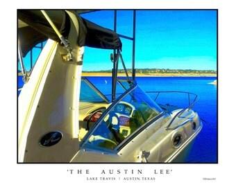 Lake travis art etsy for Austin boats motors lakeway tx