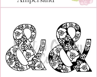 Floral Ampersand cut file. For scrapbooking and paper crafting