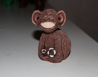 Monkey Handmade Uruguay Pottery Animal