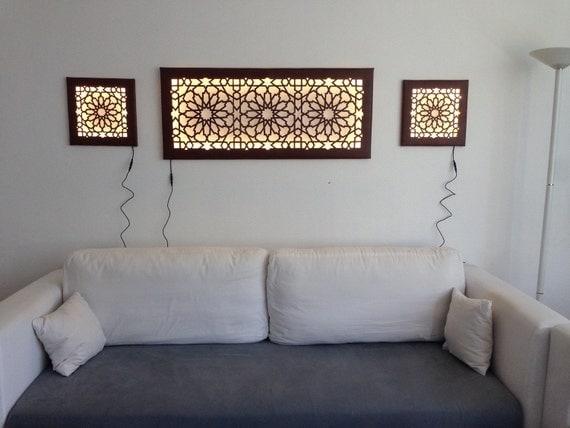 led wanddeko wandbild mit islamisch orientalischem muster. Black Bedroom Furniture Sets. Home Design Ideas