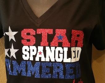Star Spangled Hammered Tee
