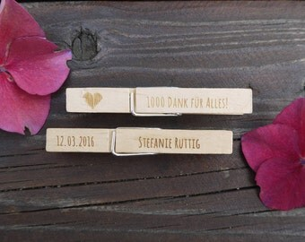 10 + engraved wooden braces as a place card, name badge, table etc.
