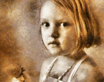 Digital Painting from photo, Custom painting, Girl portrait painting, Impressionists style, gift for daughter, Free Shipping!
