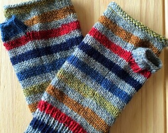 Handmade Wrist Warmers (Striped and Solid)