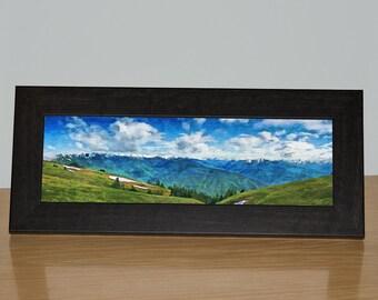 Hurricane Ridge, Olympic Mountains, Washington, Framed Canvas, Pacific Northwest, Olympic Peninsula, Olympic National Park, Desk Art, Gift