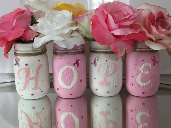 breast cancer gifts decorated jars breast cancer awareness gift breast 12314