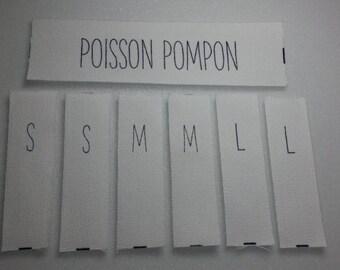 300 cotton printed label