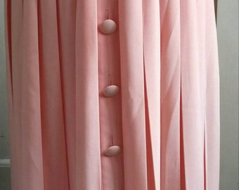 Maxi pleated salmon skirt
