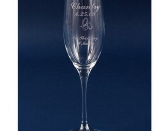 Item 498/45520 Fluted 8 oz Engraved Champagne Glass
