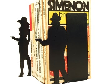 Pair of bookends Simenon tribute