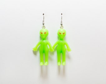 Out of This World Alien Earrings