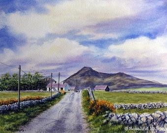 Road to Binnian (print of original watercolour)