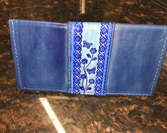 Handcrafted Leather Checkbook Cover