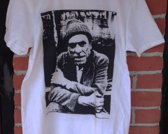 Charles Bukowski Screen Printed T Shirt Los Angeles