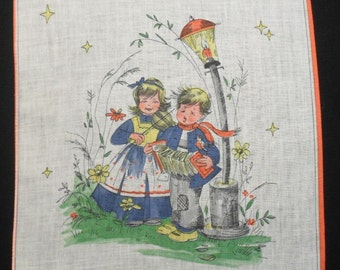 Cotton Children's Hankie Making Music Together Handkerchief