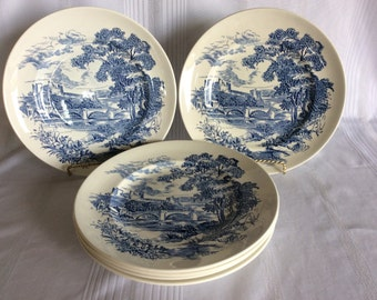Vintage Country side pattern dinner plate Enoch Wedgwood Tunstall Ltd replacement