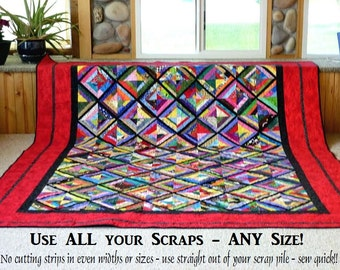 BEAUTIFUL SCRAPS Quilt Pattern + 2 Moda Patterns = Nomad & Best Of Morris