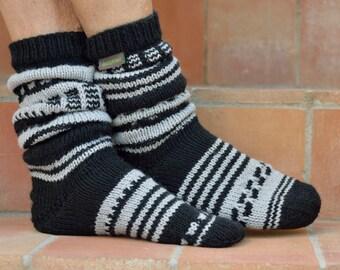 black light grey House socks