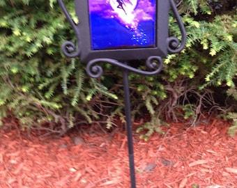 Fairy w/moon garden stake