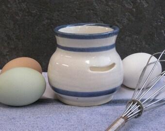 Egg Separator,kitchen supply, handmade ceramic egg separator, baking supplies, made in Montana, wedding gift, kitchen gadget