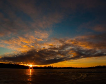 Winter Sunset - Landscape Photography Print