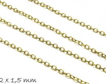 Chain bronze, fine, 2 x 1.5 mm