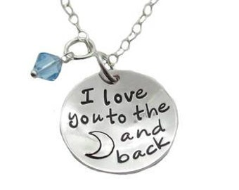 Love You To The Moon Necklace {Sterling Silver}