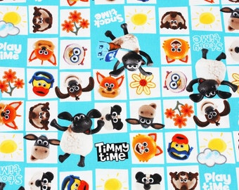 Shaun the Sheep, Timmy Time, Wallace Character Fabric made in Japan, Half meter