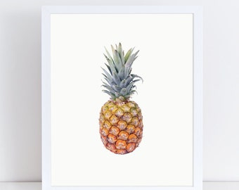 Pineapple Print, Pineapple Kitchen Decor, Fruit Photography, Fruit and Vegetable Prints, Fruit Poster, Kitchen Wall Decor, Kitchen Prints.