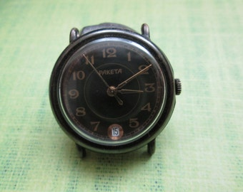 Watch Raketa black ussr
