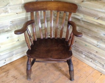 Ash & Elm Grandfather (Smoking) Chair Late 19th Century