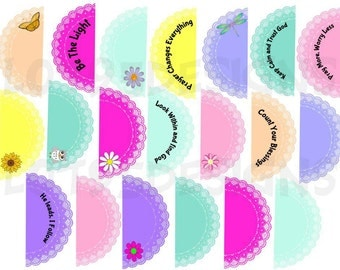 Printable Doily Sticker Sheet. Great for Bible Journaling, Planners or Journals. Matches the Doily Tag Sticker Sheet.