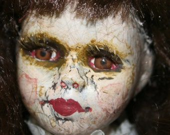 Natasha ....altered doll/creepy doll/ dark doll/ gothic/horror/halloween