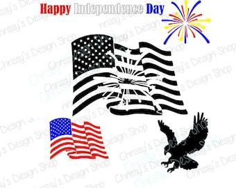 4th of July SVG / Independence Day SVG / Flag svg / USA svg / eagle svg / fireworks svg / freedom svg / patriotic svg / vinyl crafting
