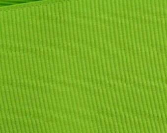 Apple Green Grosgrain  Ribbon   (05-##-S-166)
