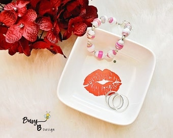 Marilyn Monroe Inspired Jewelry Dish// Marilyn Monroe//Jewelry//Jewelry Dish//Gift//Gifts for Her//Marilyn Monroe Lips//Ring Dish