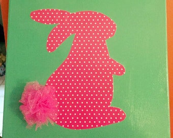 Bunny In Pink Canvas