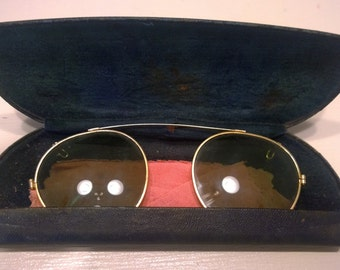 Antique Sunglasses and Case Early 1900's