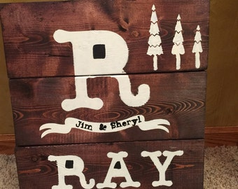 Example of custom Wooden sign