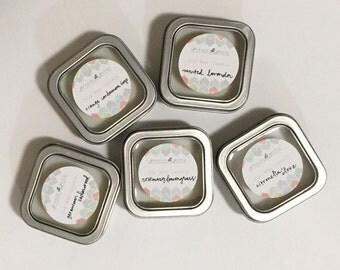 Five Pack Aromatherapy Travel Candles