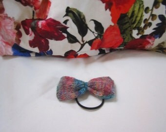 Hair Bow Tie Elastic // Variegated Blue
