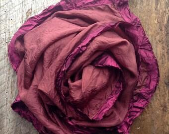 Brown Boho Scarf | Chocolate Silk Scarf | Hand Made Scarf | Silk Scarf | High Fashion Scarf | Yoga Scarf | Modern Scarf | Boho Scarf