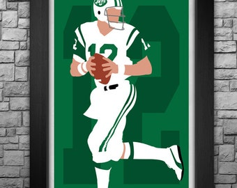 JOE NAMATH minimalism style limited edition art print. Choose from 3 sizes!