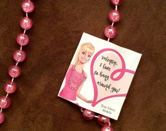 Barbie necklace party favor