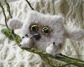 Handmade Brooch Owl Made to Order Needle Felting Owl Wool Jewelry Needle Felting Brooch Owl Felted Cutest Gift Handmade Brooch Owl Jewelry