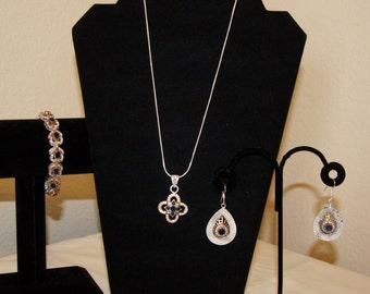 Victorian Costume Jewelry set- Blue
