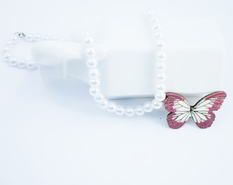 Spring Butterfly Necklace