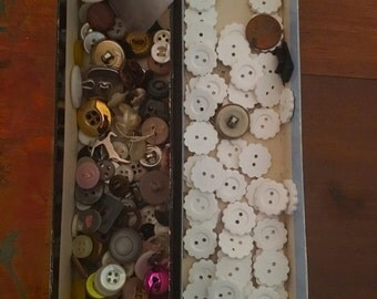 VINTAGE Buttons for Artist Supplies