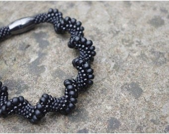 All In Black - Spiral Bracelet